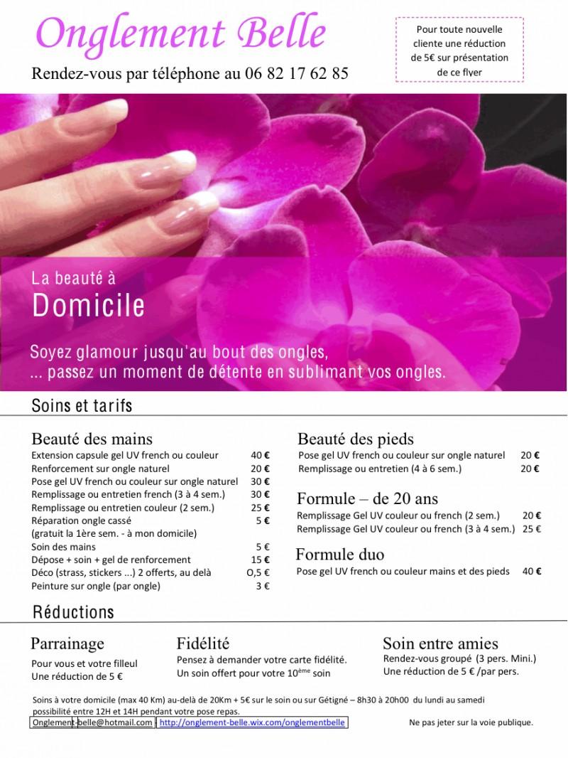 Onglement Belle Manucure Onglerie à domicile - Gétigné - Manucure