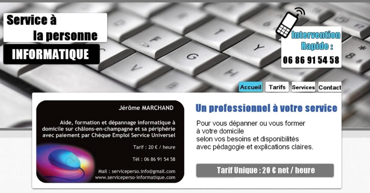 Cours et aide informatique à domicile - Châlons-en-Champagne