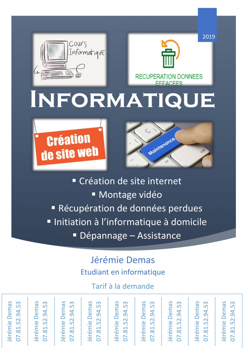 Création de site web, dépannages, cours à domicile - Saint-Jean-de